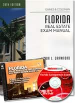 Florida Real Estate Sales Associate Exam Manual, Interactive computer CD, Audio CD Bundle