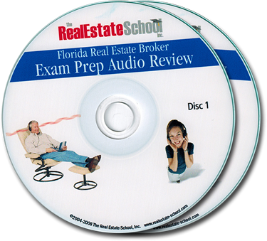 Florida Real Estate Broker Exam Prep Audio Review CDs
