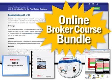 ONLINE Real Estate Broker Pre-licensing Course (Bundle 2)